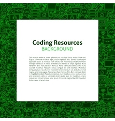 Coding resources paper template vector