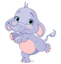 Dancing baby elephant vector