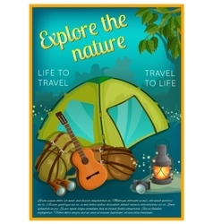 Exploration Of Nature Poster vector image