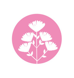 Flower bouquet natural icon vector