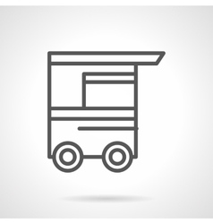 Hot-dog cart black line icon vector