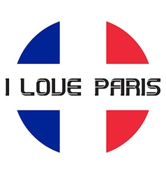I love Paris t-shirt templates vector image