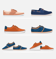 men shoes set vector image