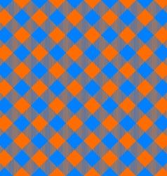 orange and blue tablecloth diagonal seamless vector image vector image