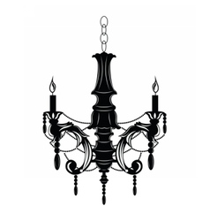 Rich Baroque Classic chandelier vector image