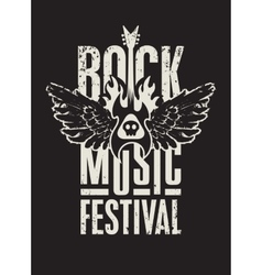 rock music festival vector image
