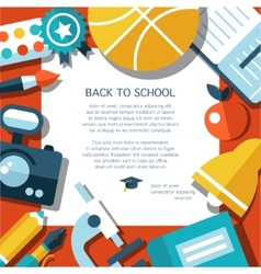 School flat design flyer template vector