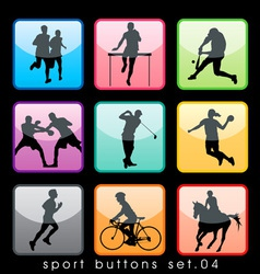 sport buttons 04 vector image