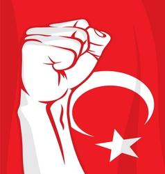 Turkey fist vector image vector image
