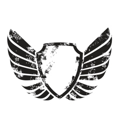 Winged crest vector
