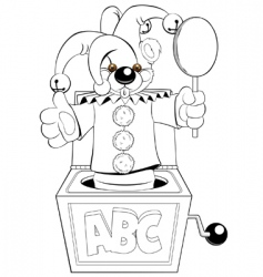 jester in box vector image