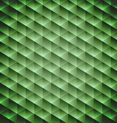 Green emerald geometric cubic background vector