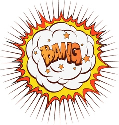 Comic book explosion vector image