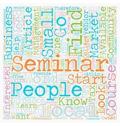 How to market your seminar to your local market vector