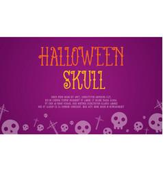 Halloween skull card style collection vector
