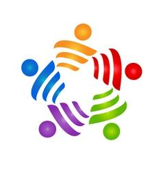 Teamwork strategies logo vector image