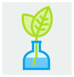 Young plant in vase poster vector image