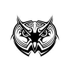 Tribal owl tattoo vector image