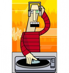 Funky dj illustration vector