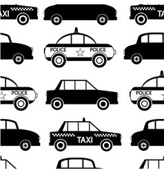 Seamless car pattern vector image