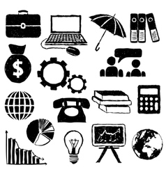 Economy doodle images vector