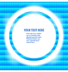Round frame your message bright blue mosaic vector