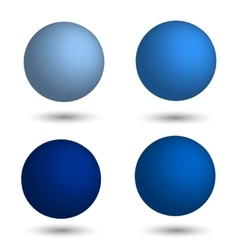 3d sphere set of realistic balls of different vector