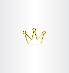 Golden king crown logo vector