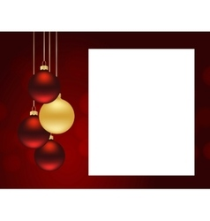 Xmas red template vector