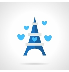 Flat blue romantic trip icon vector