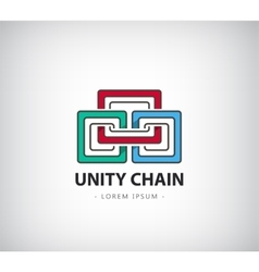 Chain logo unity concept identity for vector
