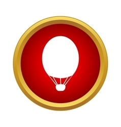 Air balloon icon in simple style vector