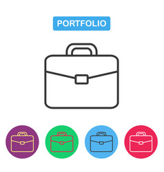Briefcase icon portfolio icon vector