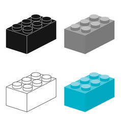 building block cartoon icon for web vector image