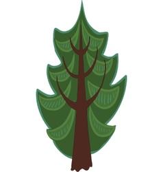 Cartoon conifer tree isolated vector