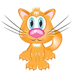 cartoon kitten vector image vector image