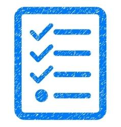 Checklist grainy texture icon vector