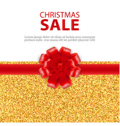 christmas sale gold elegant glitter background vector image