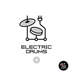 Electronic drums sign vector image vector image
