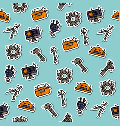 Engineering flat concept icons pattern vector