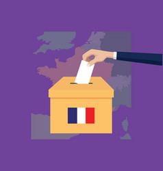 France election vote concept with vector