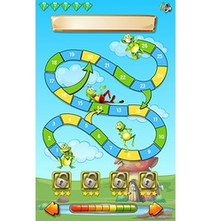 Game template with frogs in field background vector