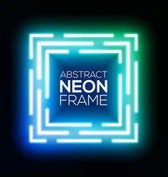 gradient blue and green neon light abstract square vector image