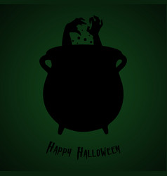 halloween party bowler with boiling potion vector image vector image