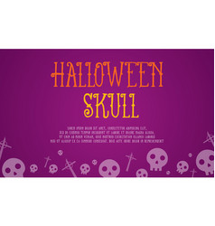 halloween skull card style collection vector image vector image