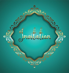 Luxurious frame vector image vector image