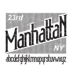 Manhattan font 01 vector