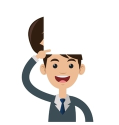 Person open head vector