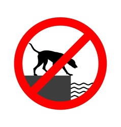 Prohibition sign for dogs vector