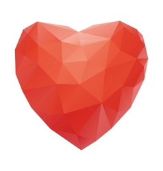 Red heart abstract isolated on a white backgrounds vector image vector image